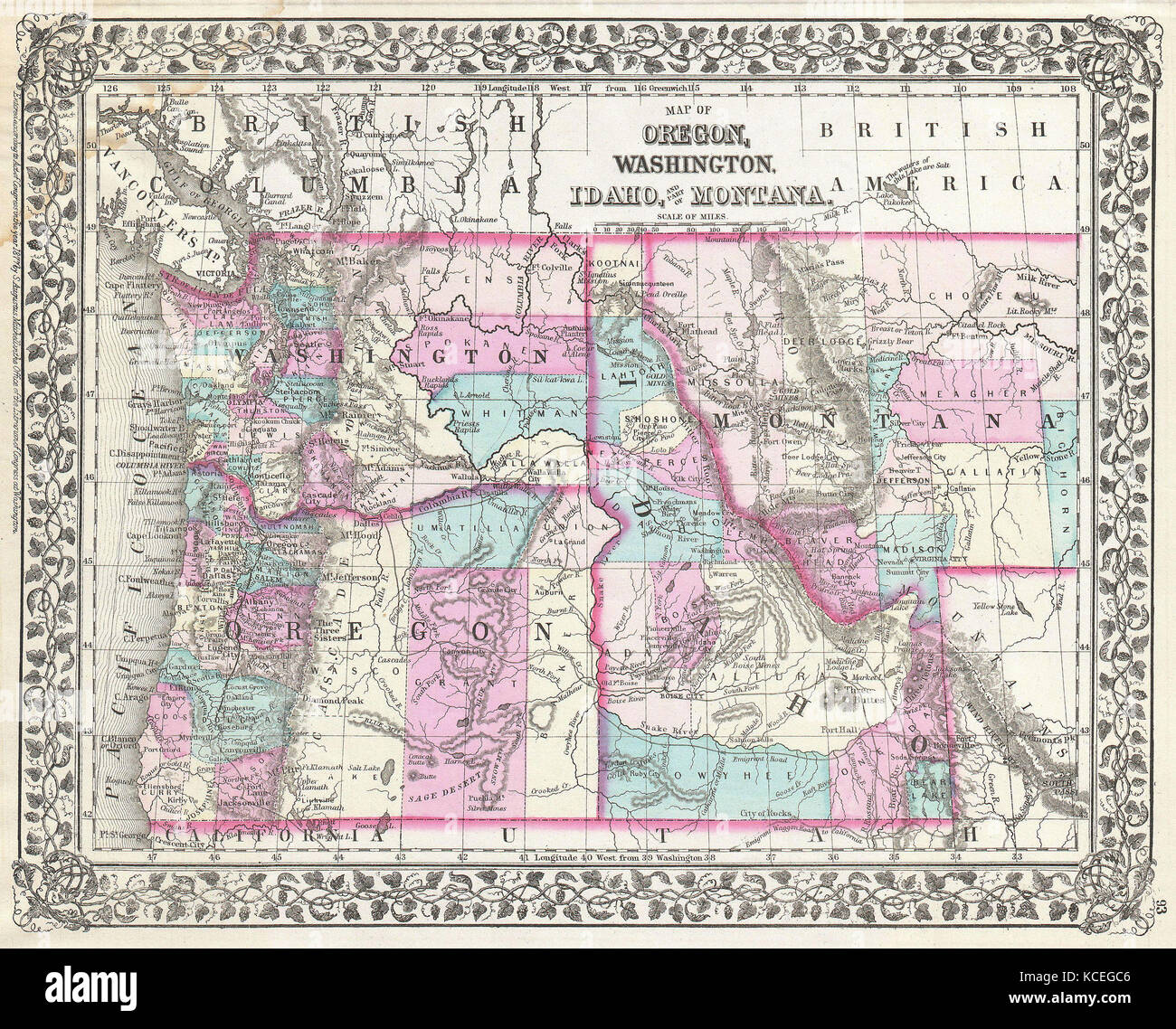 Map Of Oregon Asia Pacific Map - Map of oregon