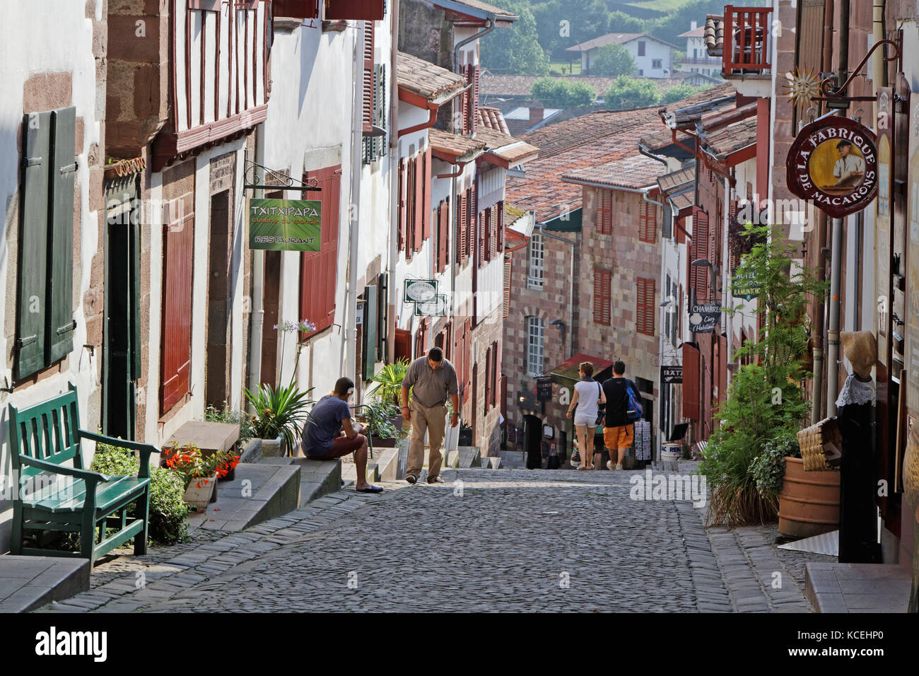 Saint jean pied de port stock photos saint jean pied de port stock images alamy - Hotels in saint jean pied de port france ...