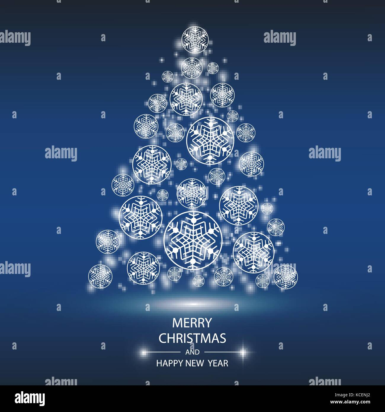christmas tree from light vector background greeting card or stock