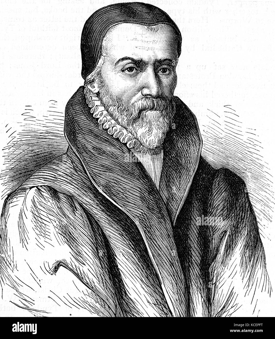 Portrait of William Tyndale (1494-1536) an English scholar, translator and  leading figure in Protestant reform. Dated 16th Century