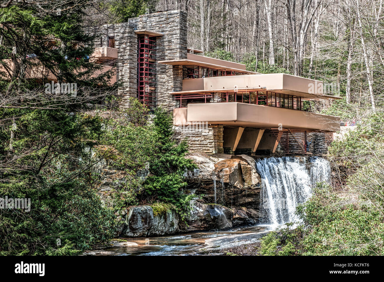 fallingwater house from the architect frank lloyd wright mill run