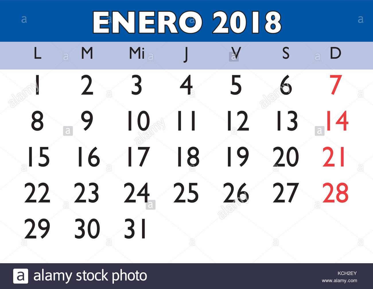 january month in a year 2018 wall calendar in spanish enero 2018 calendario 2018