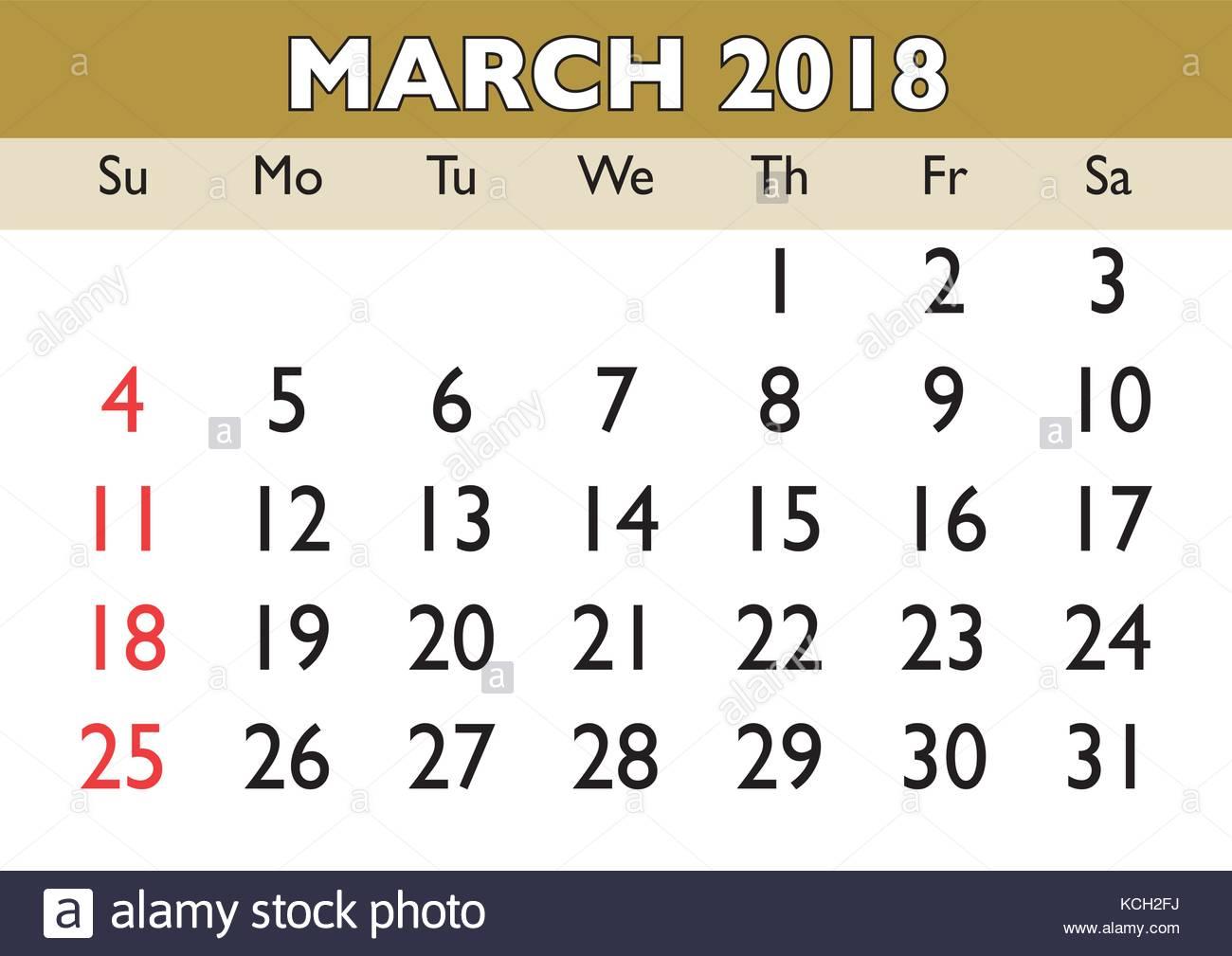 Calendar Monthly March : Calendar march month vector printable calendar monthly