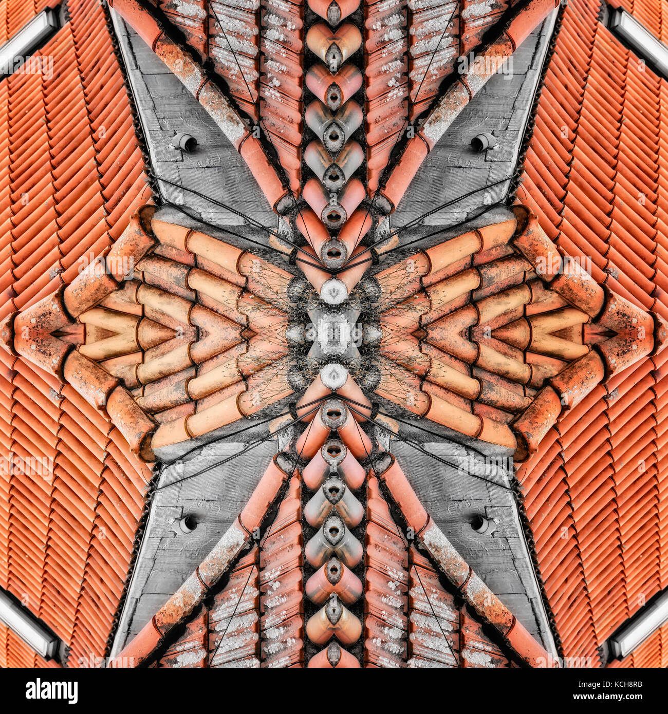 Shaped Roof Tiles Stock Photos Amp Shaped Roof Tiles Stock
