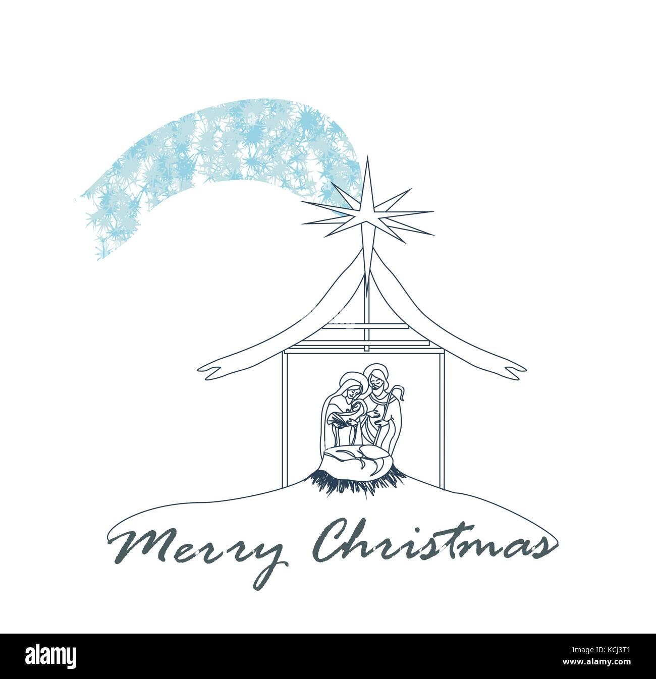 birth of Jesus in Bethlehem Stock Vector Art & Illustration, Vector ...