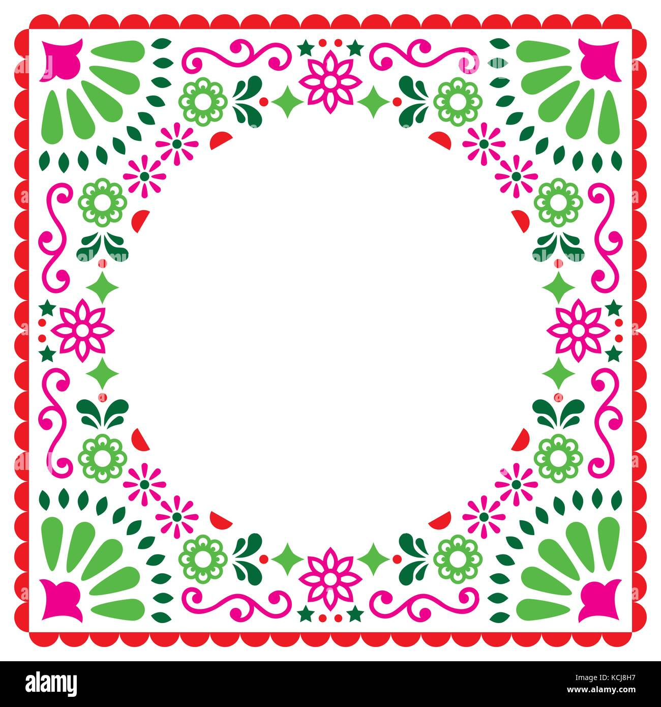 Folk vector greeting card mexican style wedding or party invitation folk vector greeting card mexican style wedding or party invitation floral pink and green design stopboris Image collections