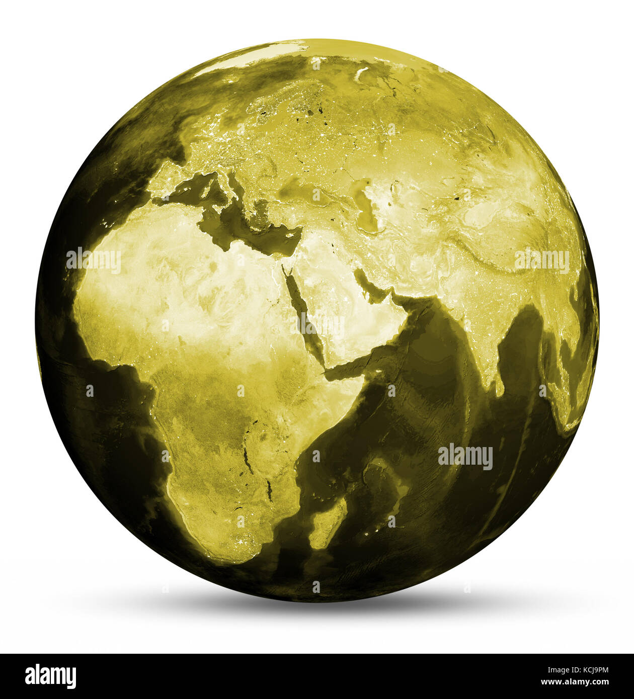 earth yellow map 3d rendering stock photo 162672012 alamy