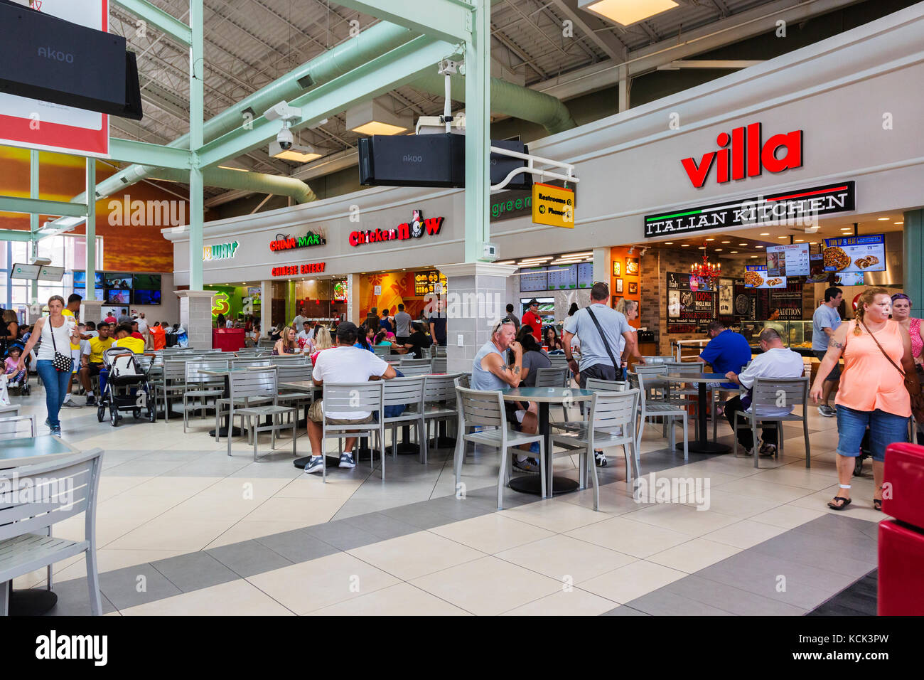 Restaurants And Cafes Inside Premium Outlets Shopping Mall