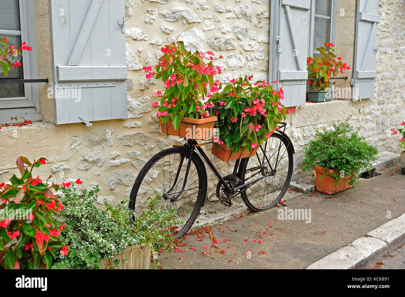 Uncategorized Bicycle Planters bicycle planter stock photos images alamy old used as issigeac dordogne department aquitaine france stock