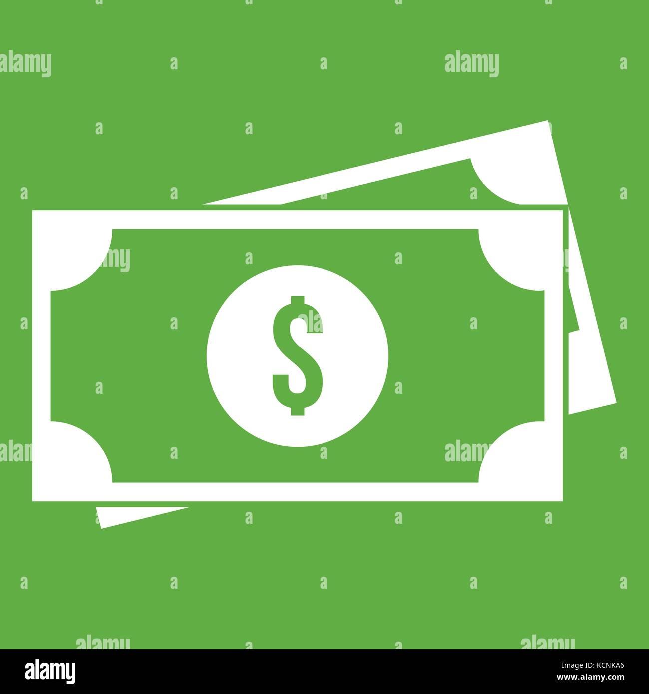American dollars icon green stock vector art illustration american dollars icon green biocorpaavc