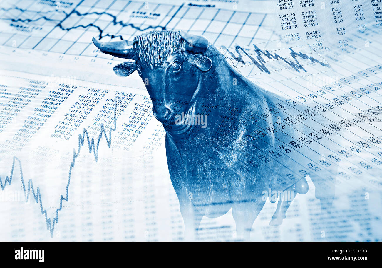 Foreign exchange market stock photos foreign exchange market financial symbols and bull stand for success in the stock market stock image buycottarizona