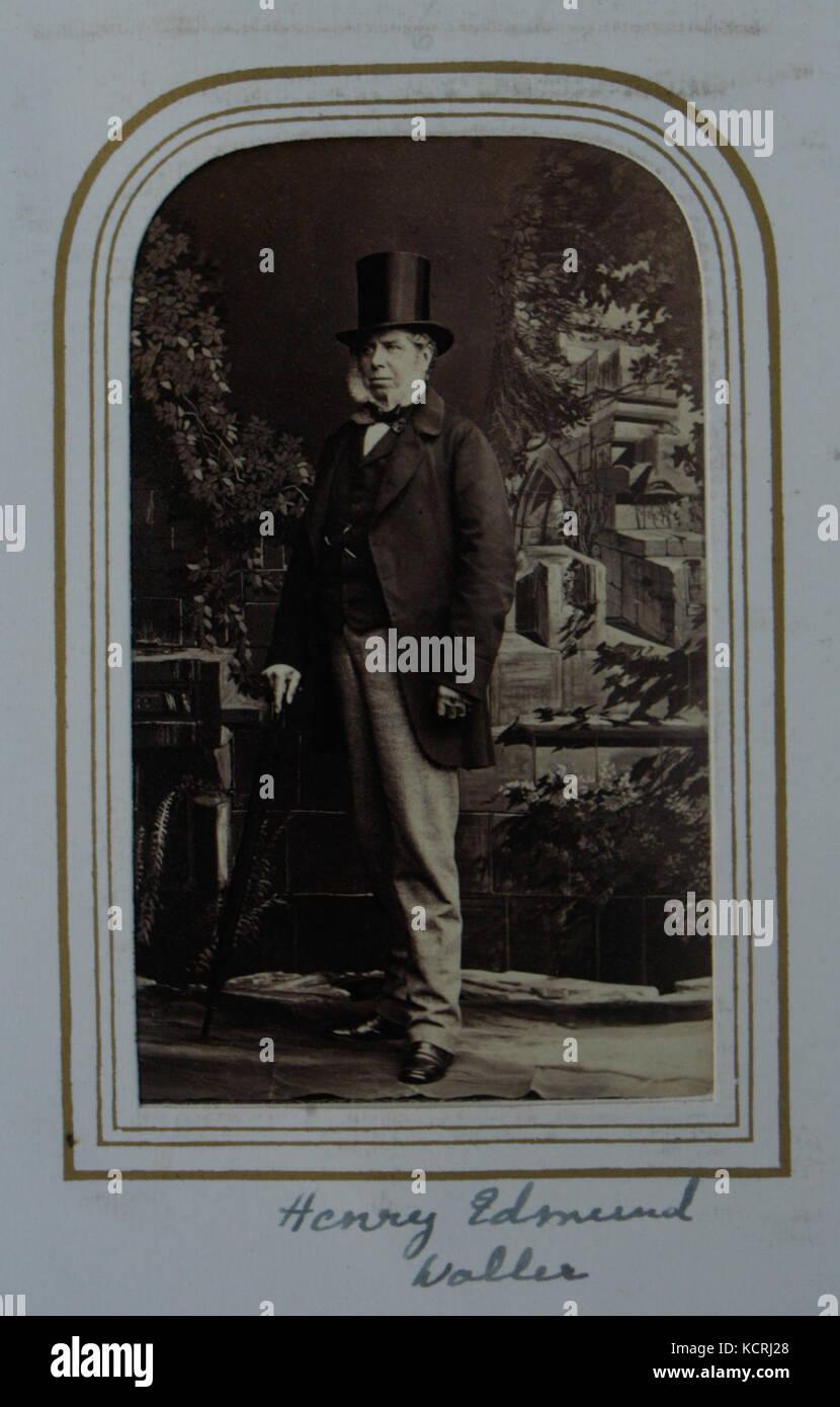 Carte De Visite Standing With Top Hat Of Harry Edmund Waller JP DL 1804 69 Farmington And Kirkby Fleetham