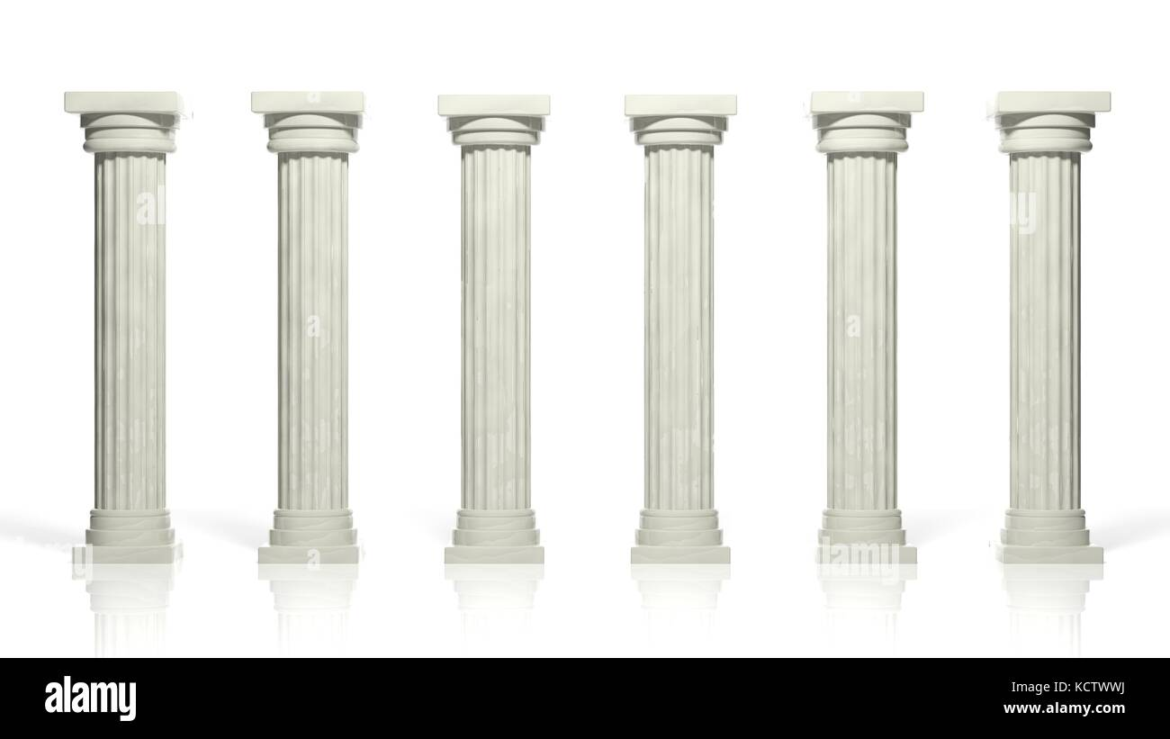 Old Stone Pillars : Ancient old stone pillars cut out stock images pictures
