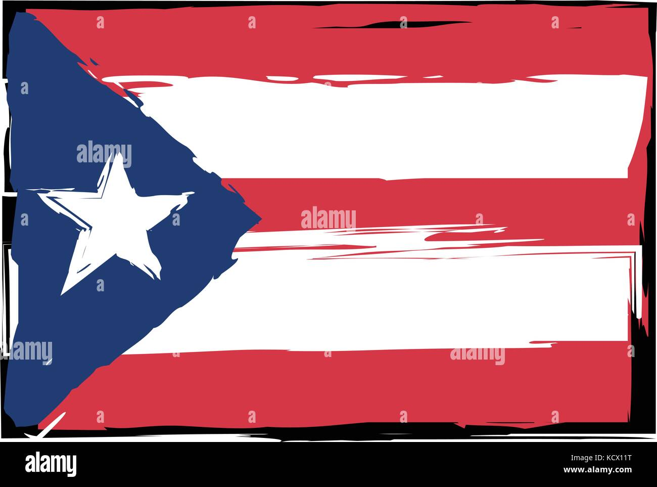 Grunge puerto rico flag or banner vector illustration stock vector grunge puerto rico flag or banner vector illustration biocorpaavc Image collections