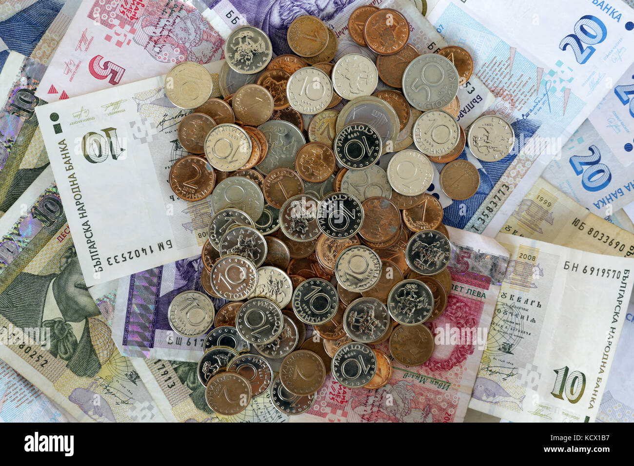 Bulgarian lev stock photos bulgarian lev stock images alamy bulgarian lev money banknotes stacked and photographed from above paper money and coins stock biocorpaavc