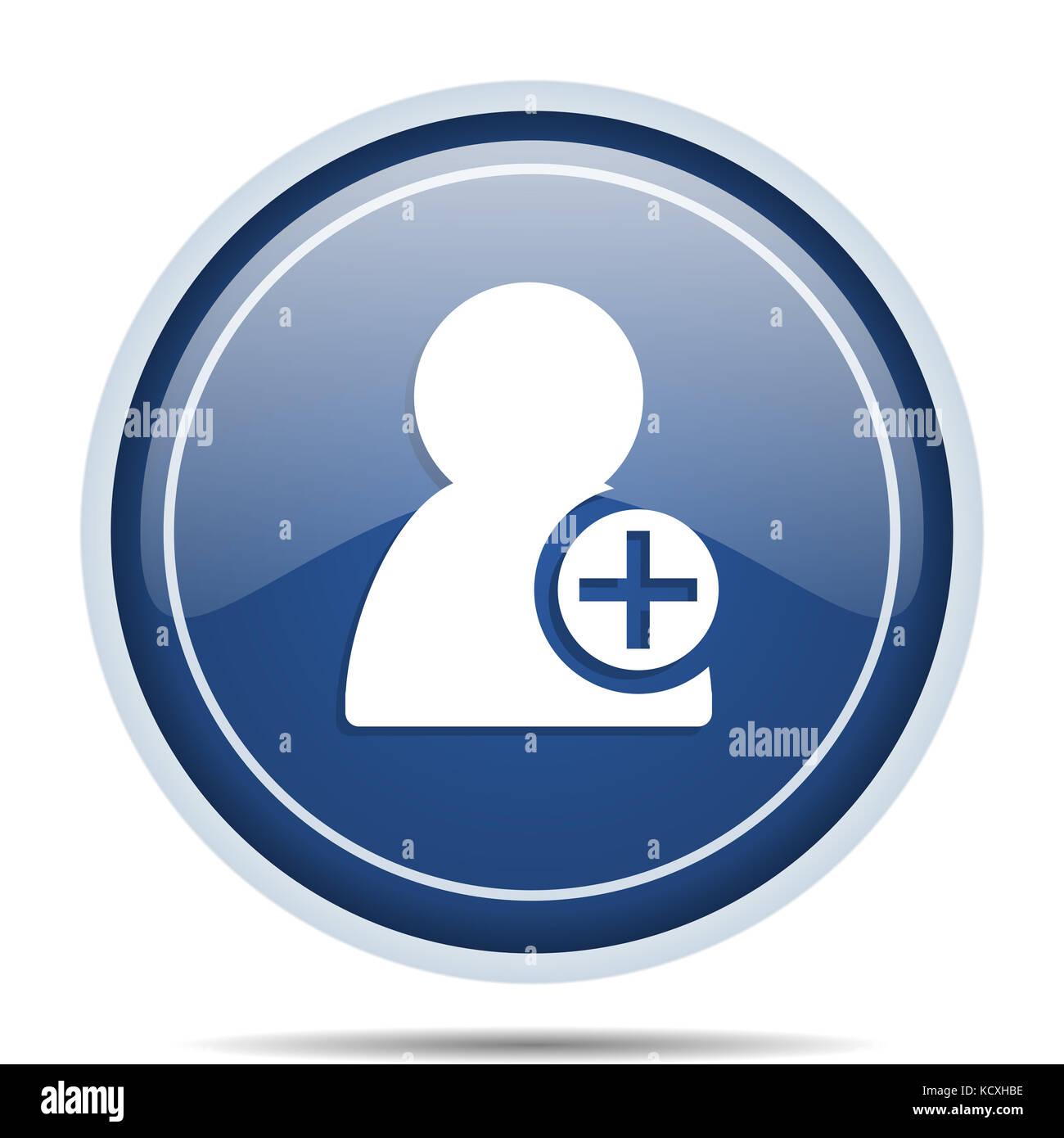 Blue sign administrator symbol icon stock photos blue sign add contact blue round web icon circle isolated internet button for webdesign and smartphone applications buycottarizona