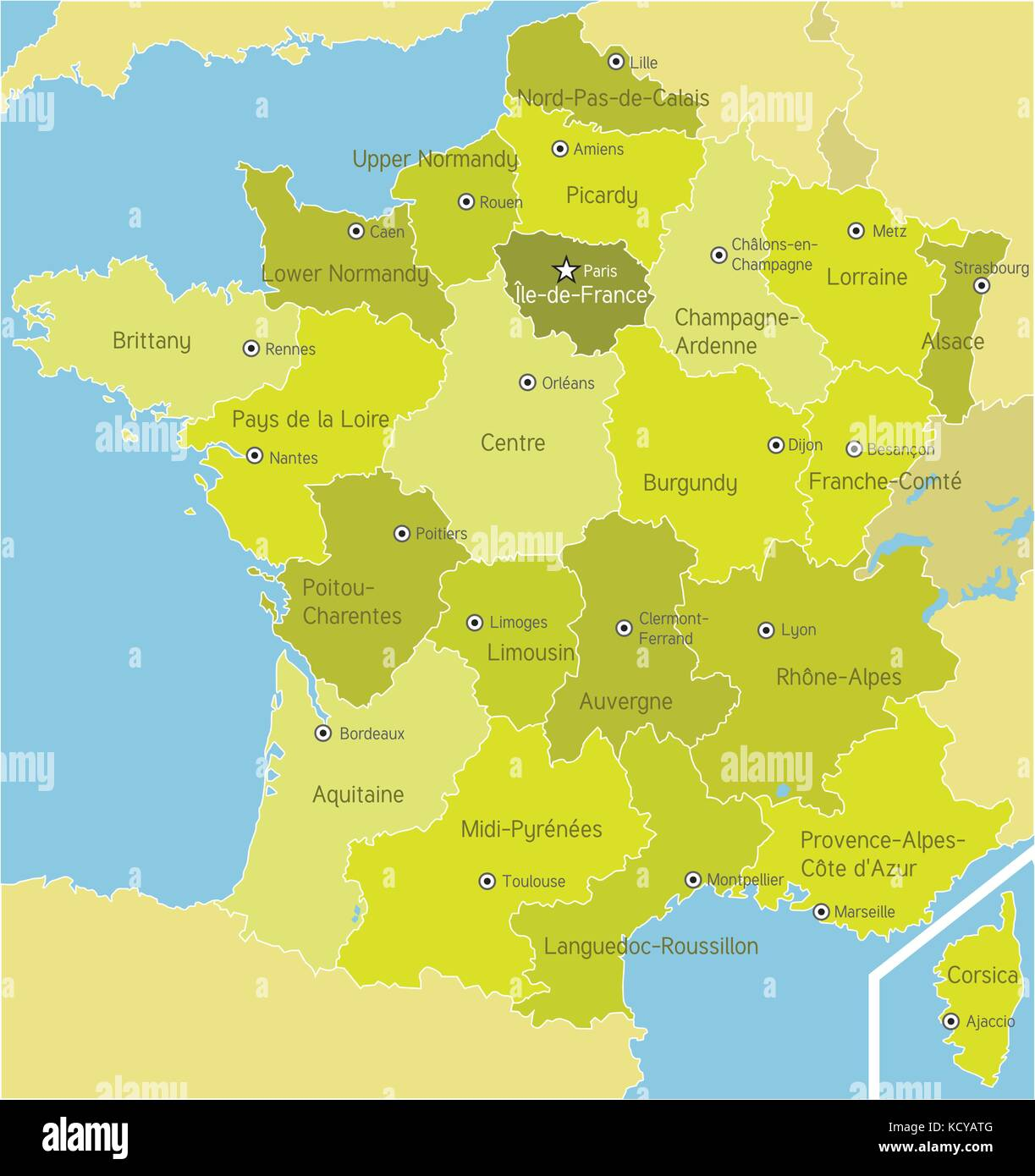 Brittany Map Vector Stock Photos Brittany Map Vector Stock Images