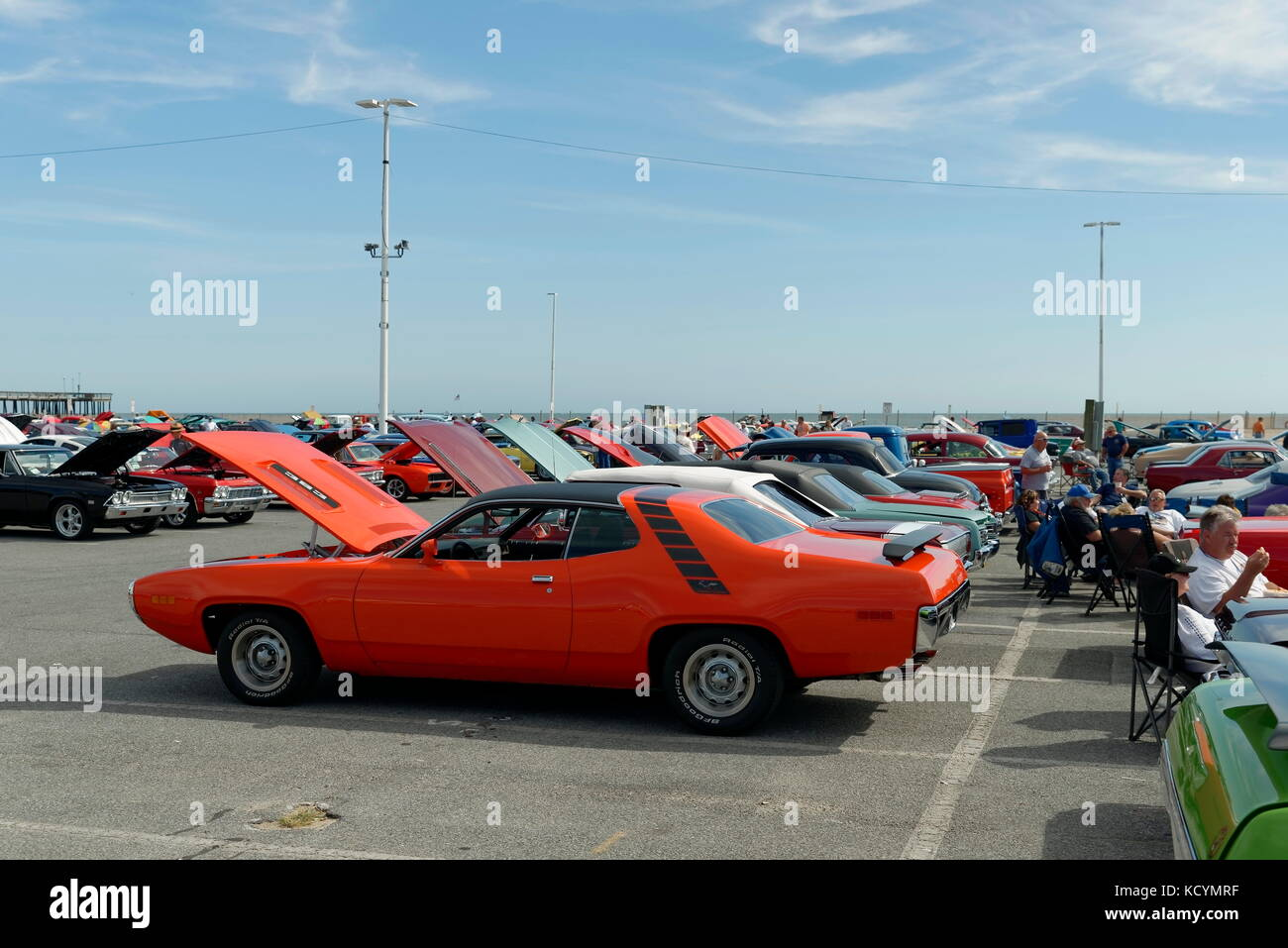 Cars on display at the Inlet, at the Ocean City, Maryland Hot Rod ...