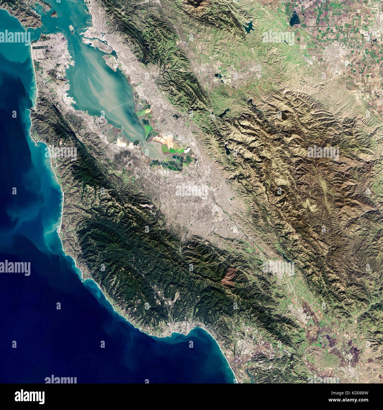 Satellite Image Of Silicon Valley Part Of Californias Santa Clara Kd W