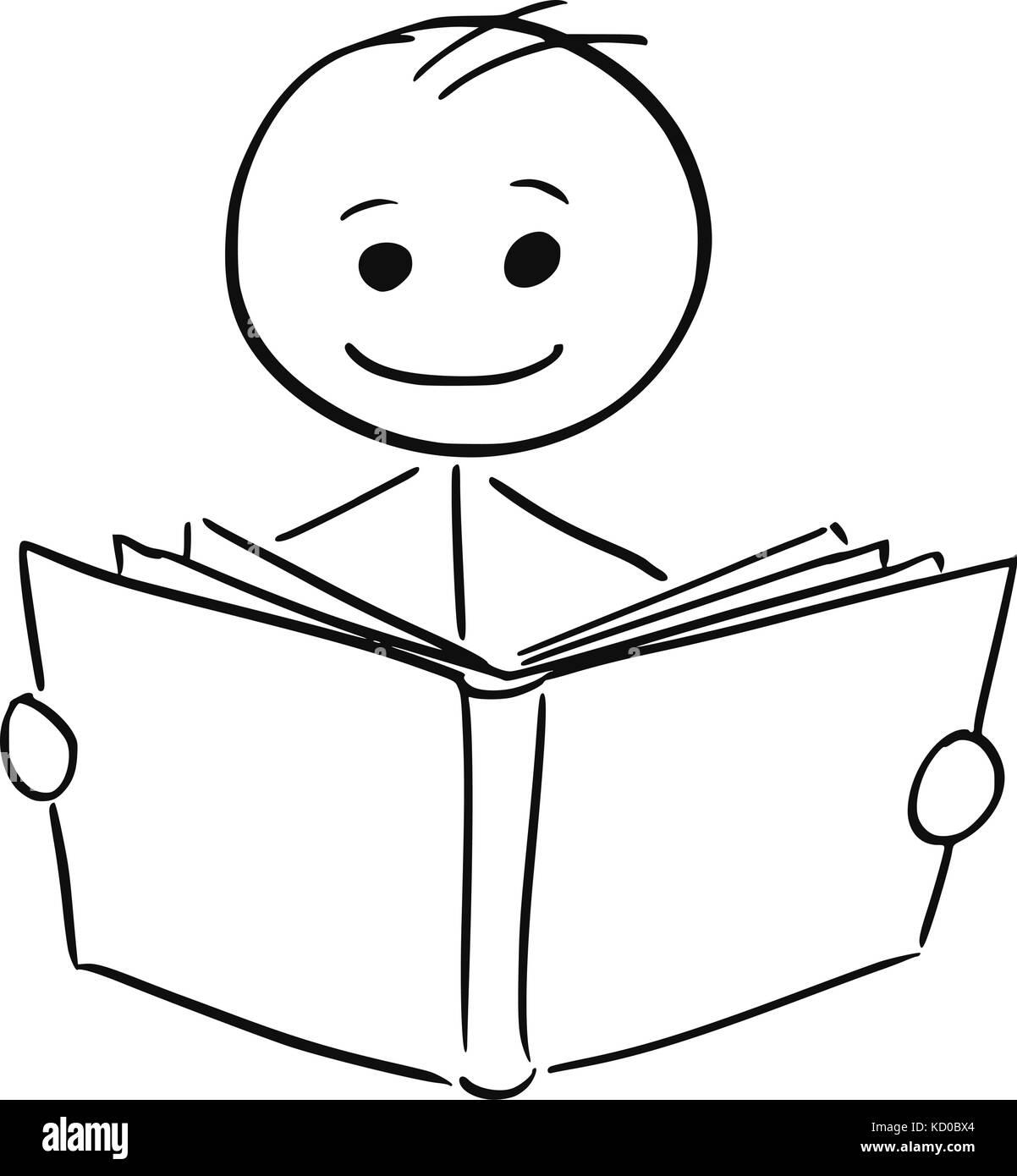 cartoon person reading a - photo #34