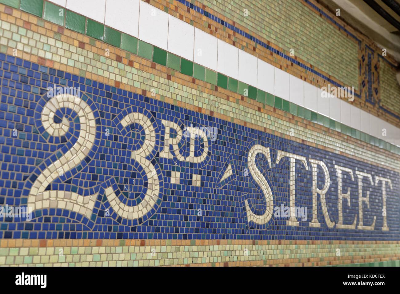 Subway tiles new york stock photos subway tiles new york stock new york city usa september 14 2017 sign on tiles of the biocorpaavc Gallery