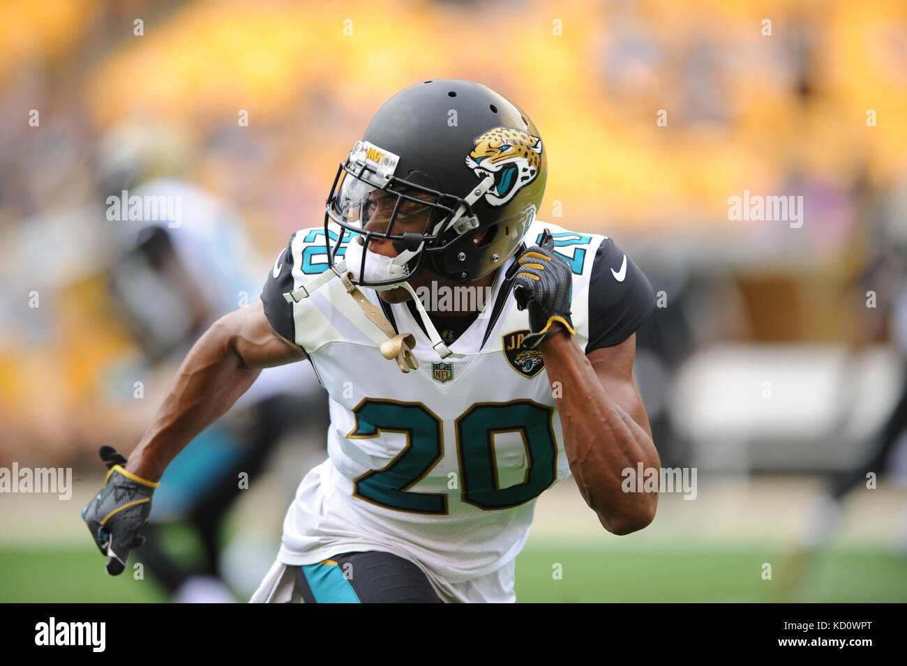 Pittsburgh PA USA 8th Oct 2017 Jalen Ramsey 20 during the