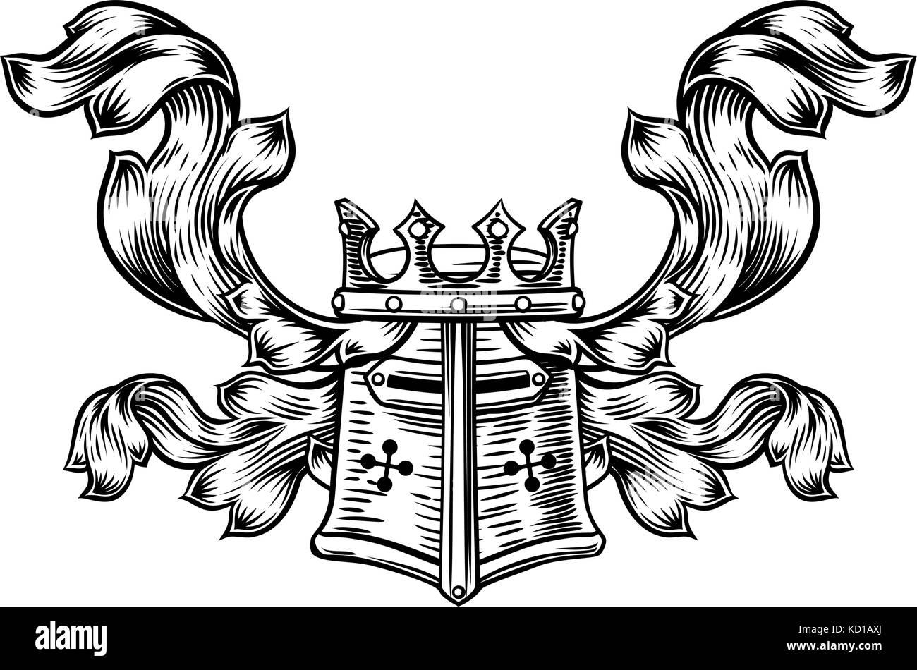 Helmet heraldic crest stock vector art illustration vector helmet heraldic crest biocorpaavc Gallery