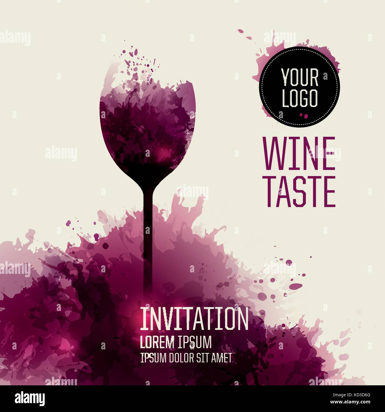 Invitation template for wine event or party Stock Vector Art ...