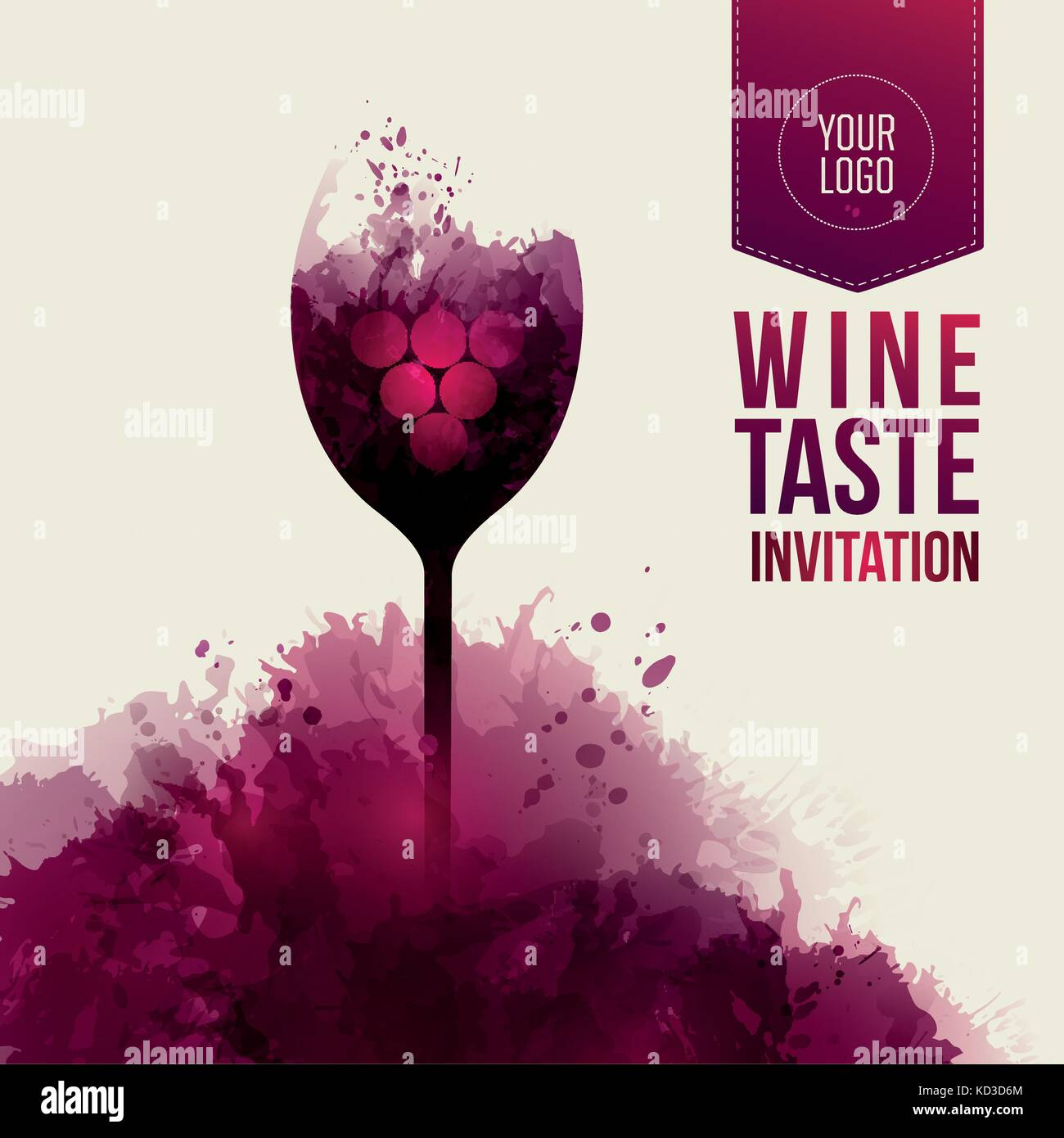 invitation template for event or party. suitable for tasting, Presentation templates