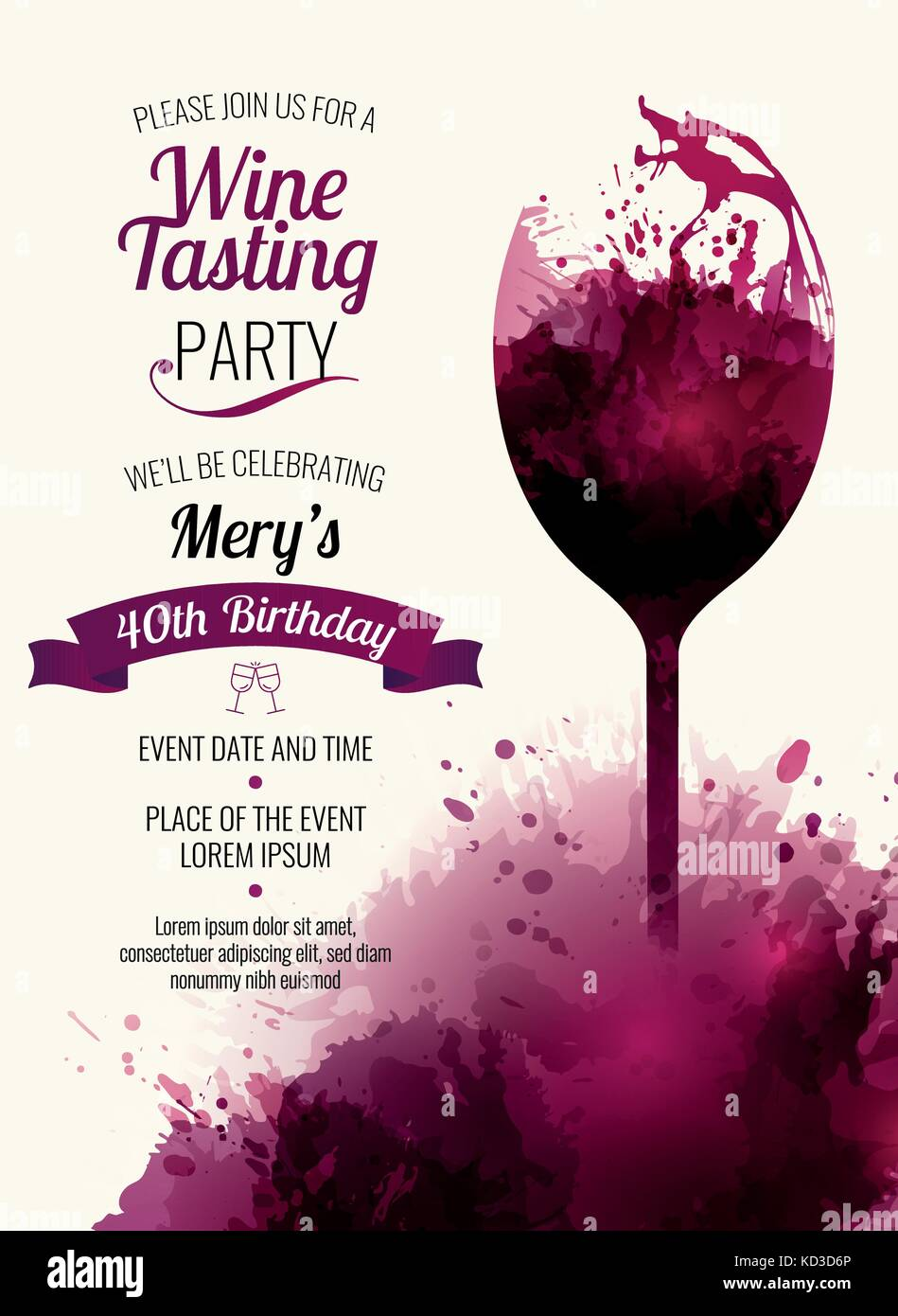 Invitation template for event party or wine promotion suitable for invitation template for event party or wine promotion suitable for tasting events parties or wine presentation place for your text vector stopboris Image collections