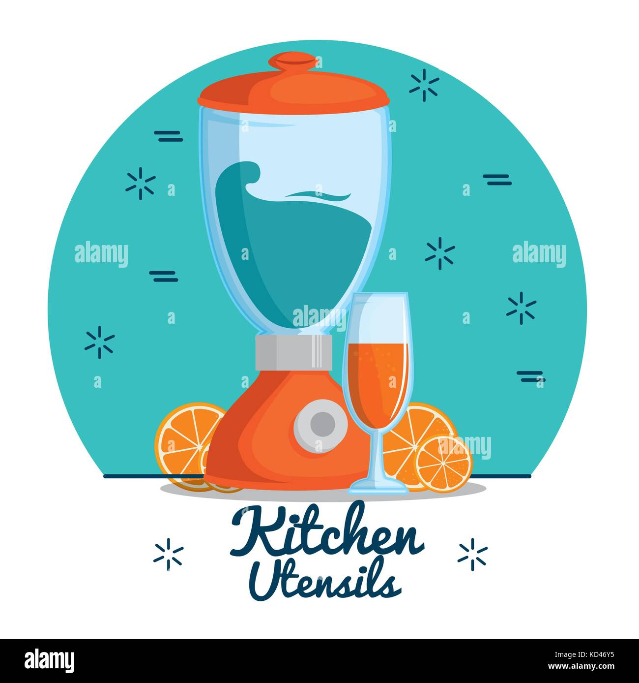 colorful kitchen utensils vector illustration graphic design Stock ...