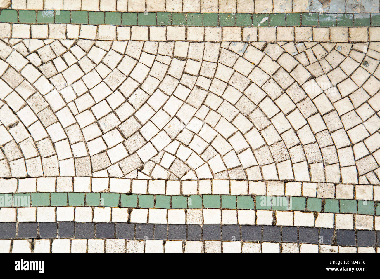 Close Up On S Art Deco Mosaic Tiles In White And Green And Dark - Art deco mosaic tile patterns