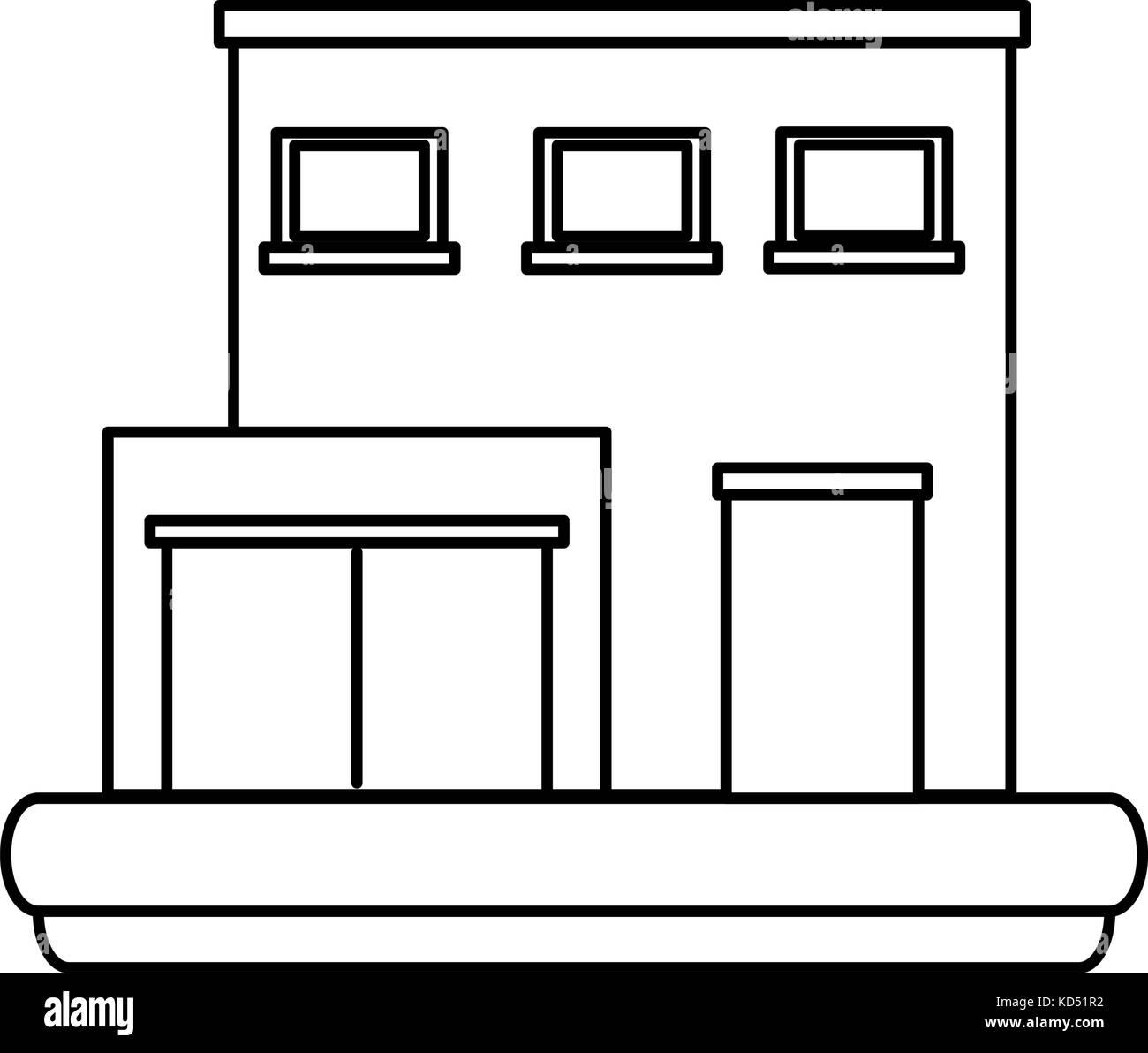 Warehouse building symbol stock vector art illustration vector warehouse building symbol biocorpaavc