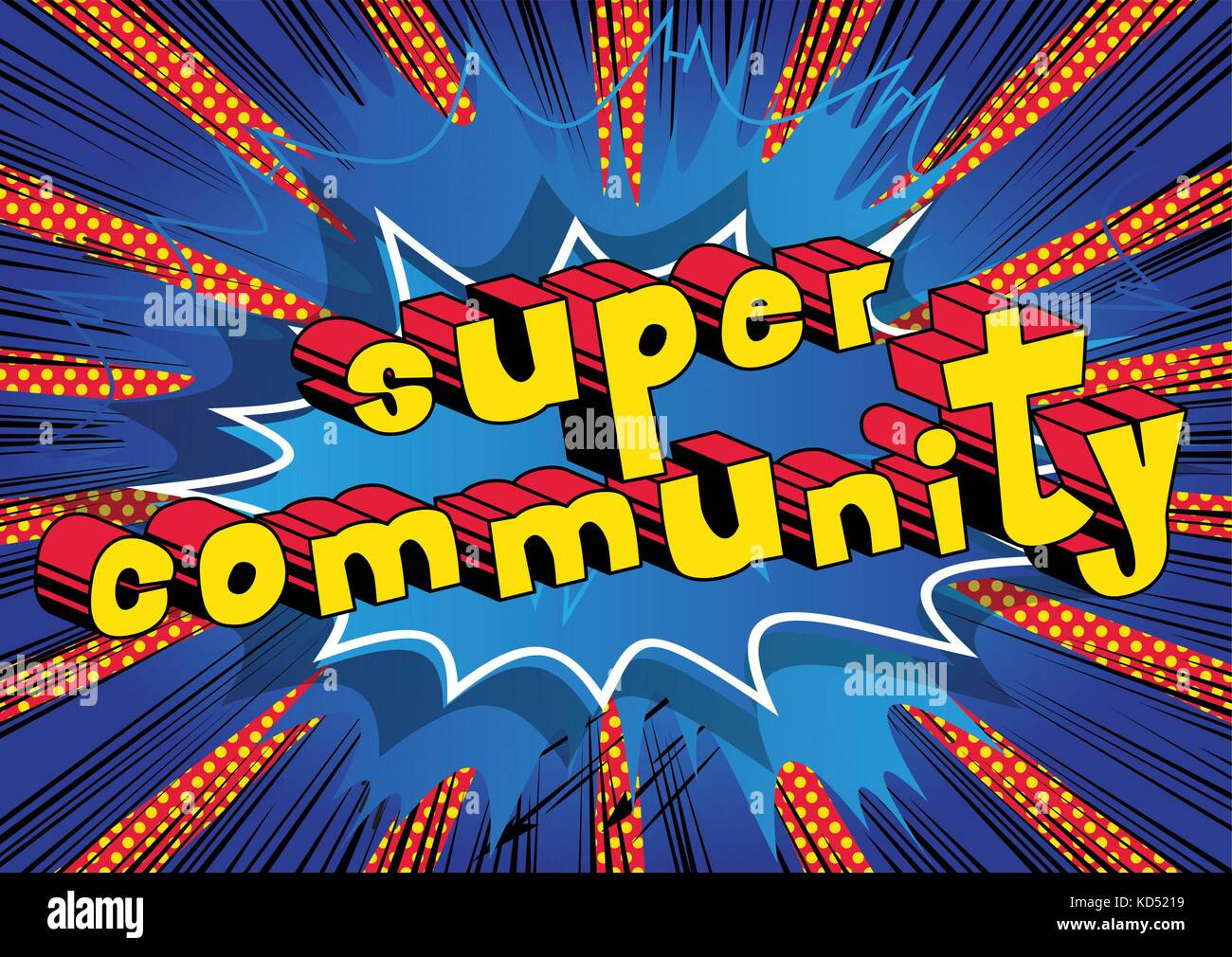 Community vectors stock photos community vectors stock images super community comic book style word on abstract background stock image sciox Gallery