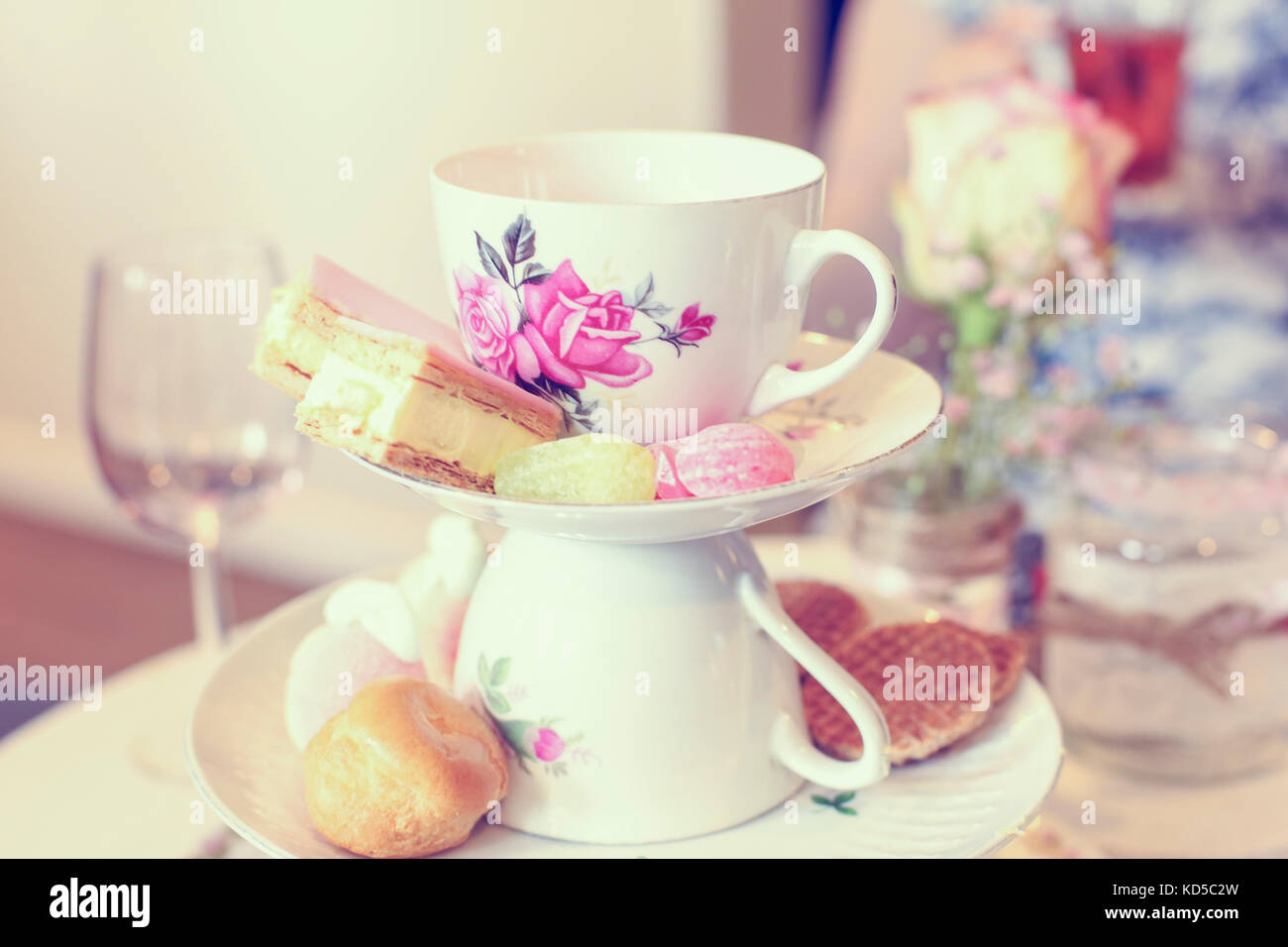 display of cookies and sweets at a wedding stock photo 163003089