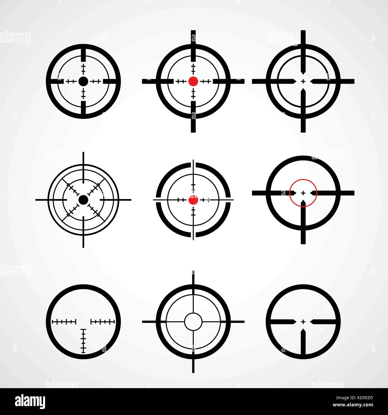 Sniper sight symbol crosshair target stock photos sniper sight crosshair gun sight target icons set stock image buycottarizona Image collections