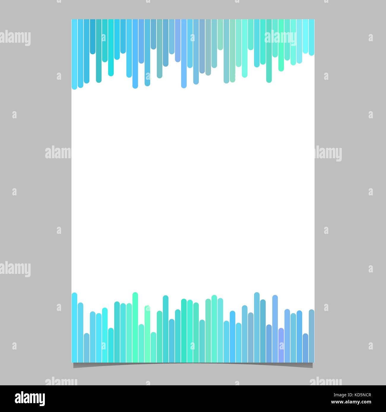 Document Template From Vertical Lines Vector Brochure Design With White Background