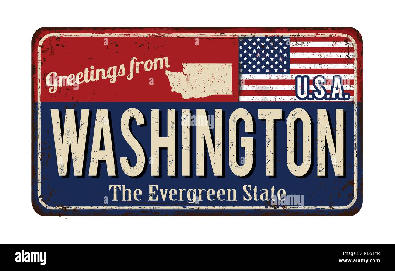 Greetings from washington stock photos greetings from washington greetings from washington vintage rusty metal sign on a white background vector illustration stock kristyandbryce Gallery