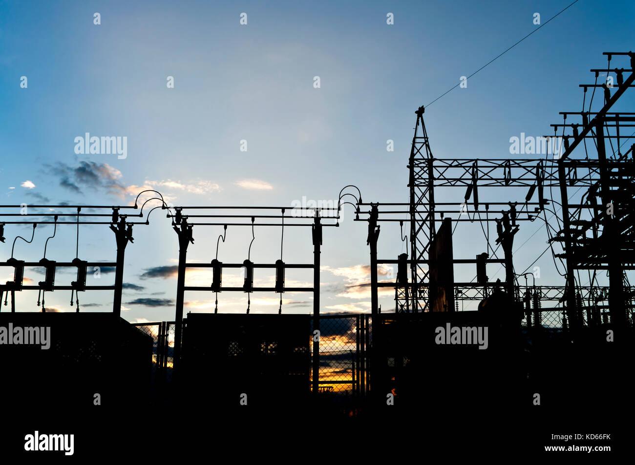 Electrical substation transmission distribution stock for Distribution substation
