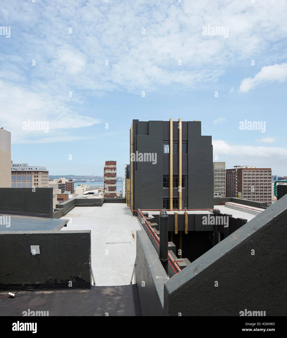 Rooftop with Art Deko details. Pixley House, Durban, South Africa ...
