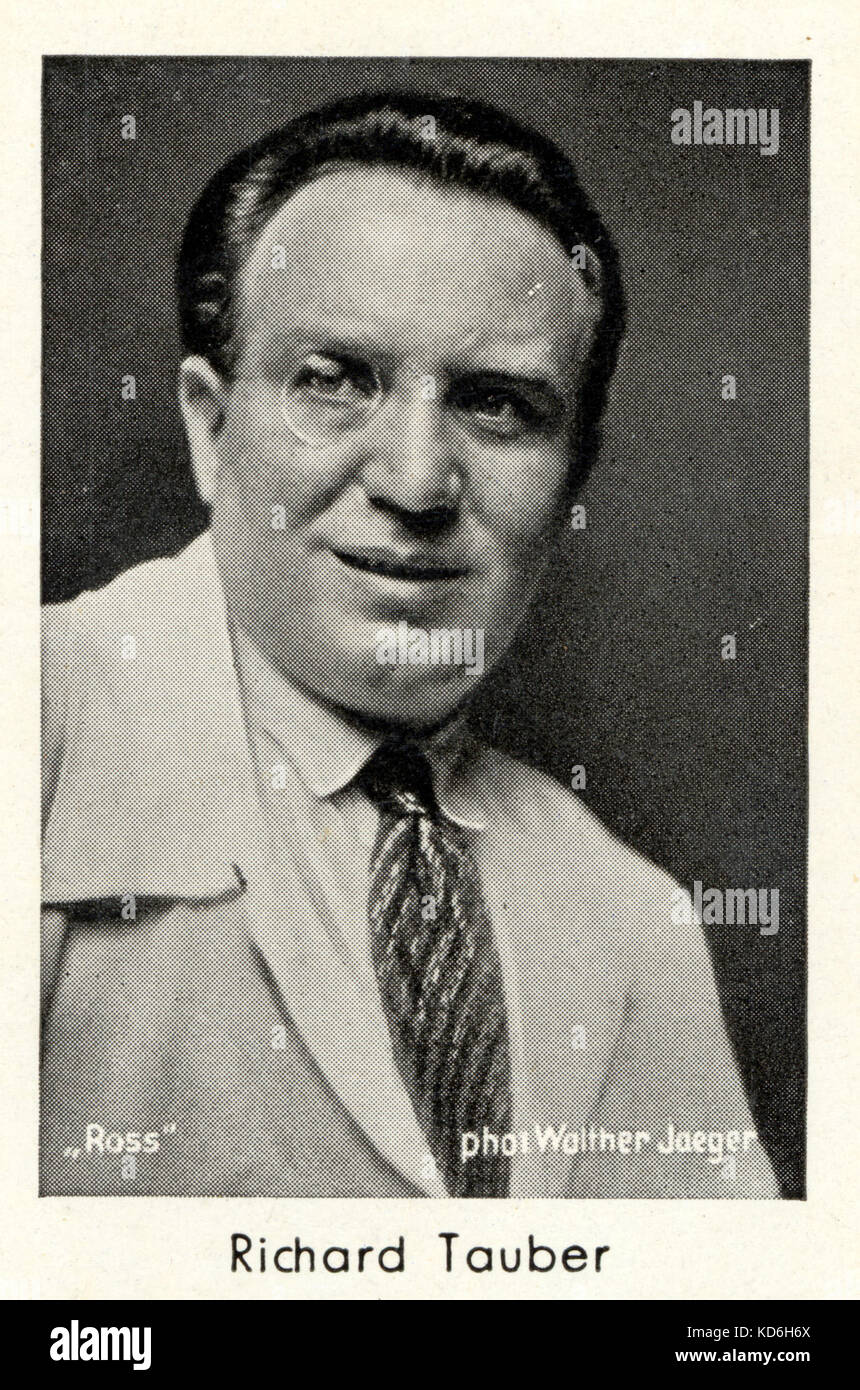Jacques schell photographe synthesis of all pictures from www - Richard Tauber Portrait Austrian British Tenor 1892 1948 Stock Image