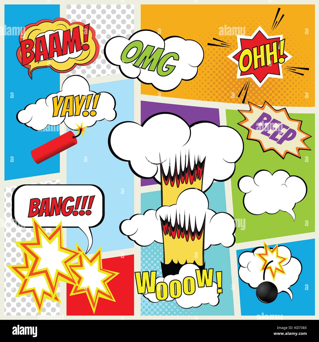Vector comic book explosion elements color vector symbols stock vector comic book explosion elements color vector symbols buycottarizona