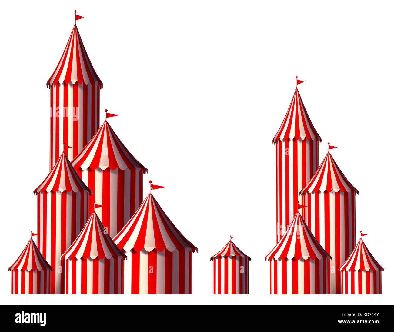 Circus tent design element as a group of big top carnival tents with an opening entrance  sc 1 st  Alamy & Circus tent design element as a group of big top carnival tents ...