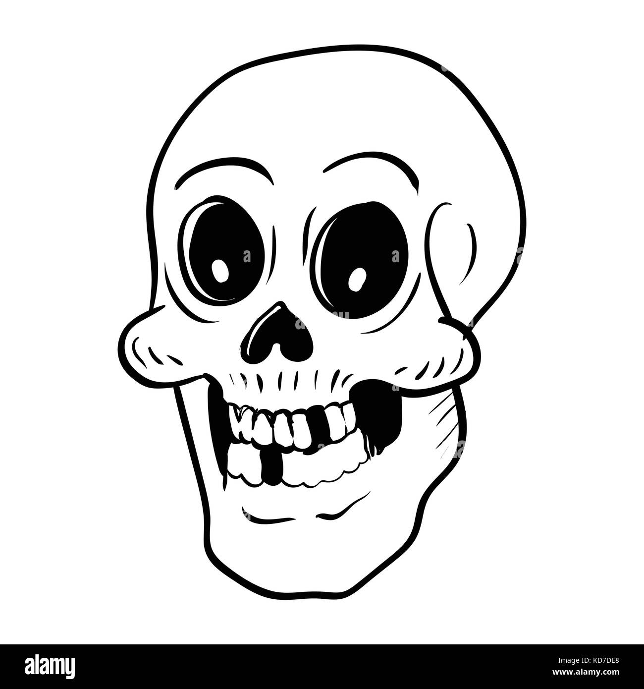Illustration Scary Skeleton Cartoon Isolated Stock Photos ...