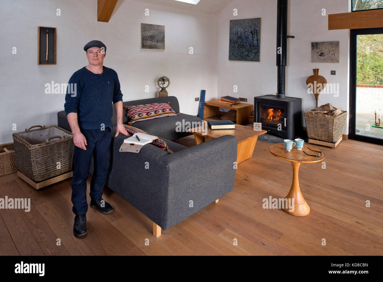 Elegant Furniture Maker James Verner At His Home In Dorset.   Stock Image