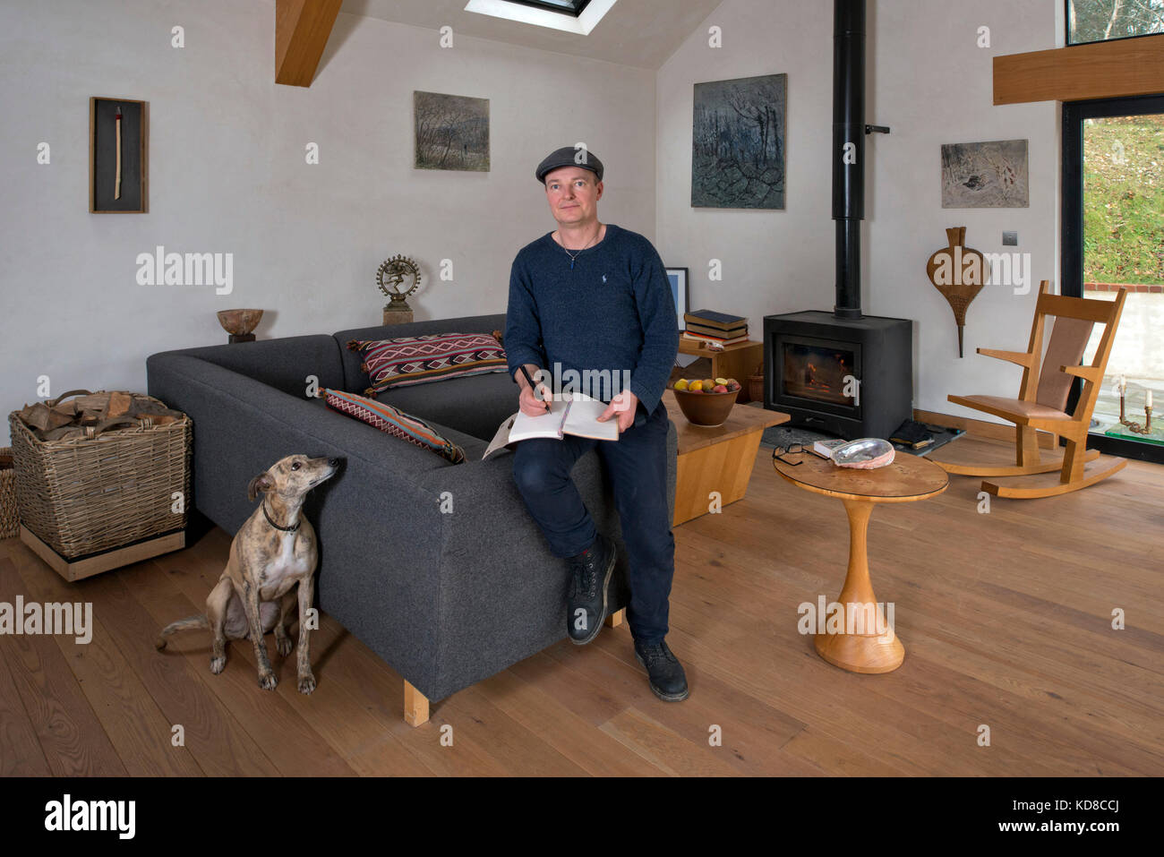 Furniture Maker James Verner At His Home In Dorset.   Stock Image