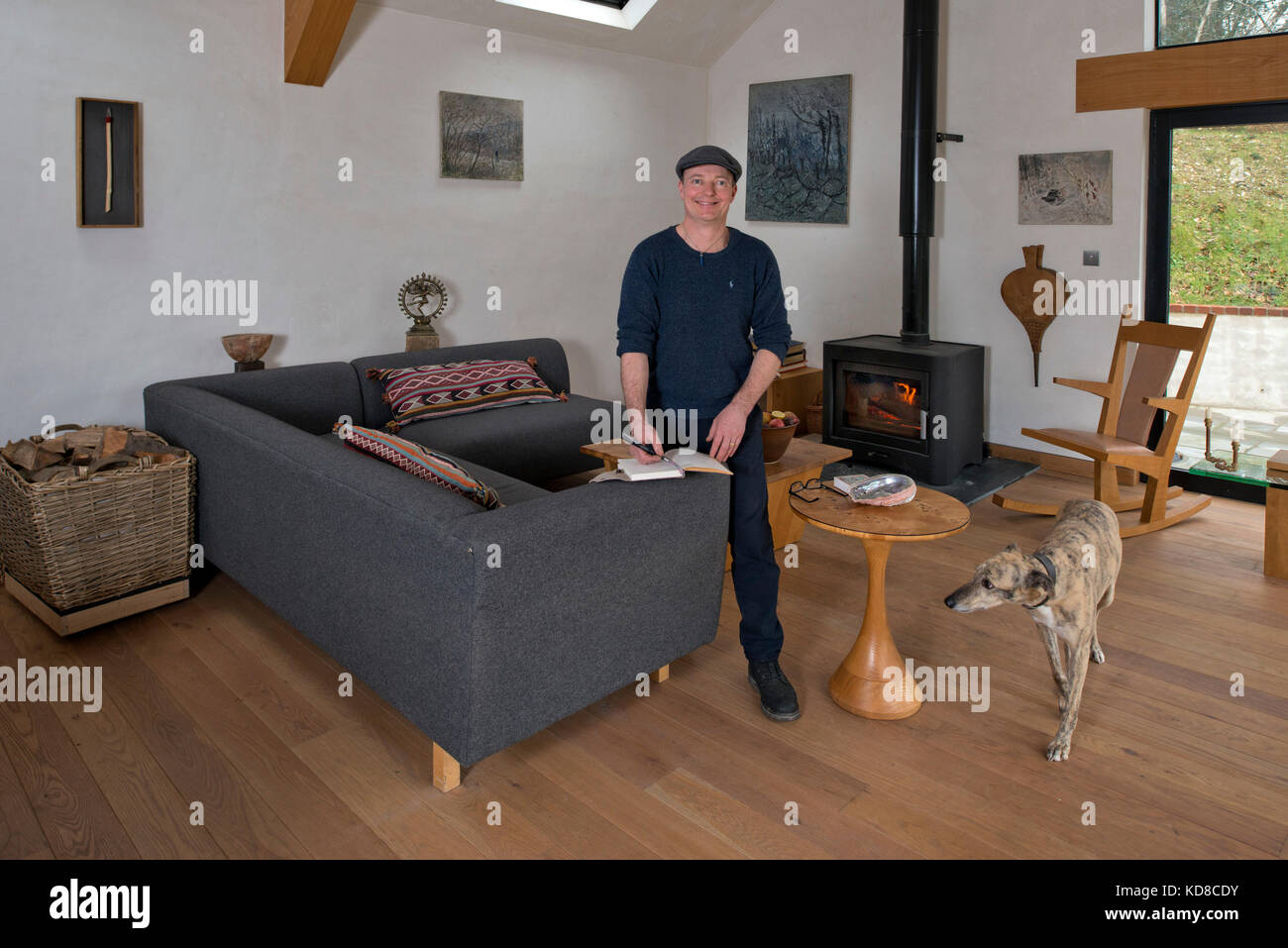 Good Furniture Maker James Verner At His Home In Dorset.   Stock Image