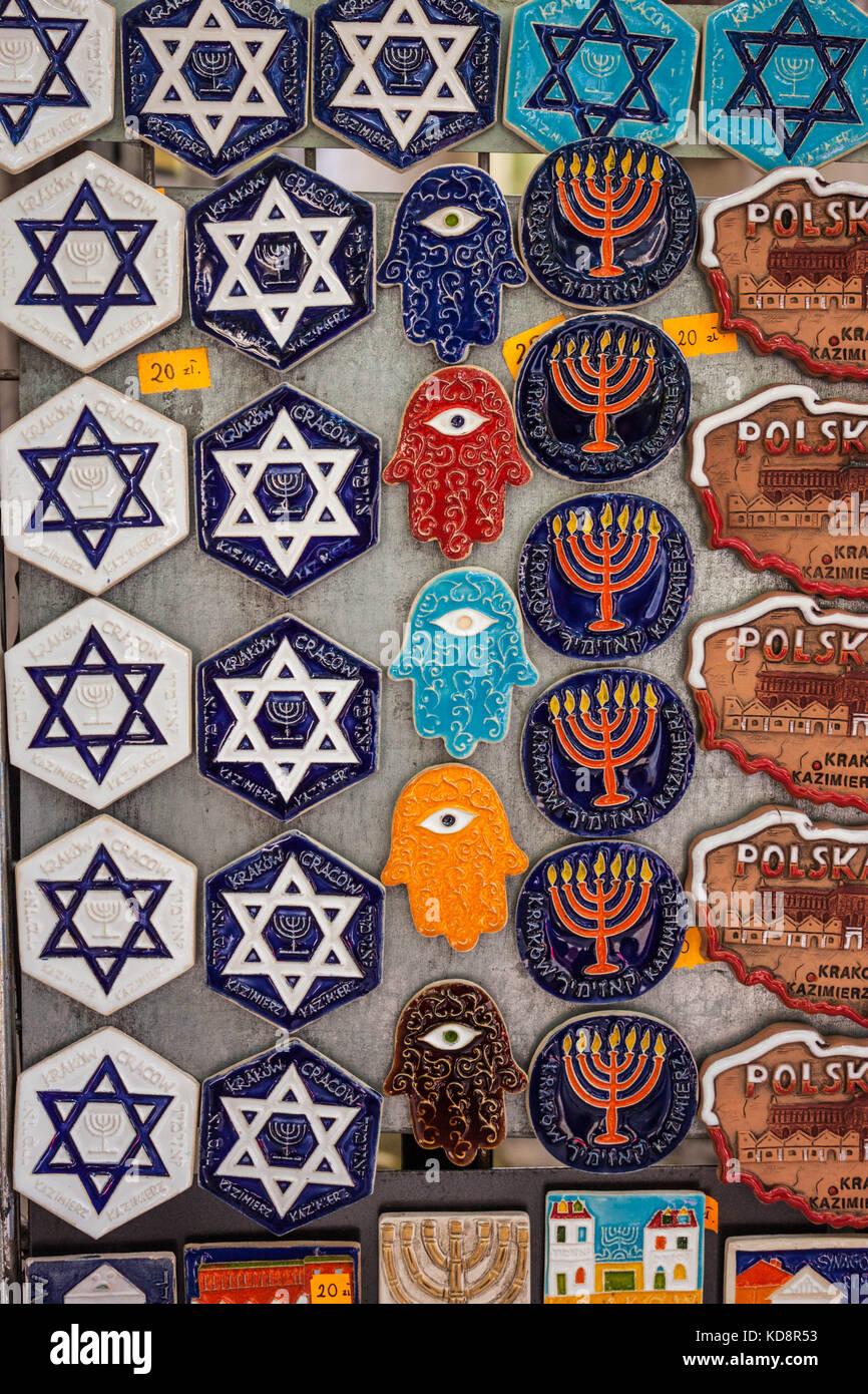 Jewish symbols stock photos jewish symbols stock images alamy krakow poland september 7 2016 souvenir magnets with jewish symbols magen biocorpaavc