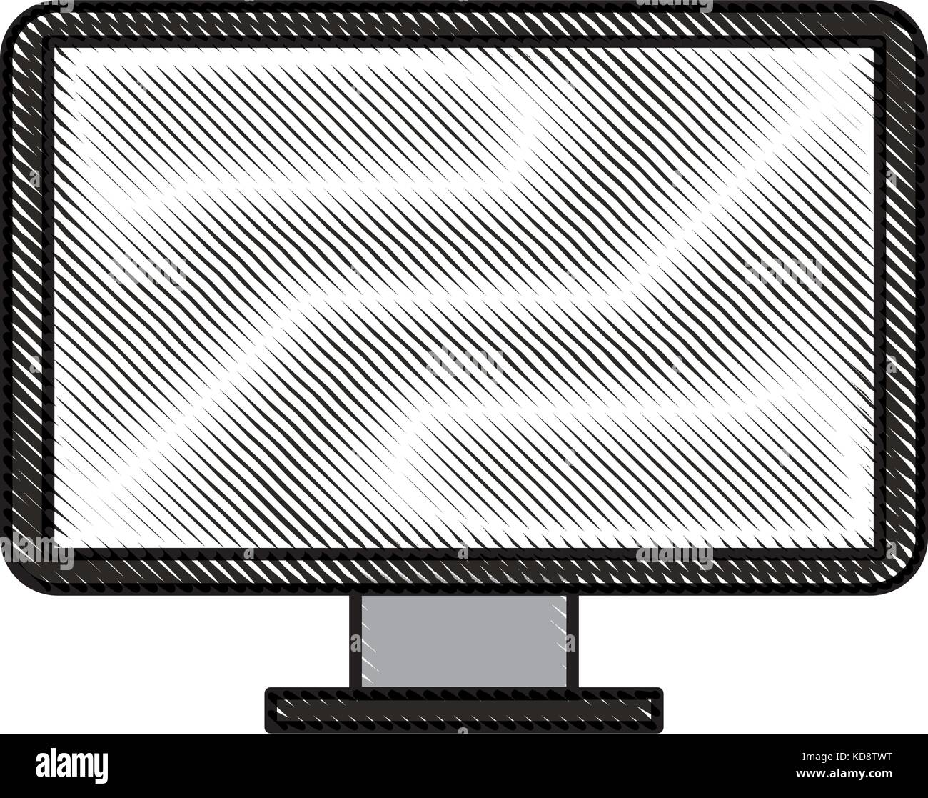 screeen monitor of computer device technology stock vector art