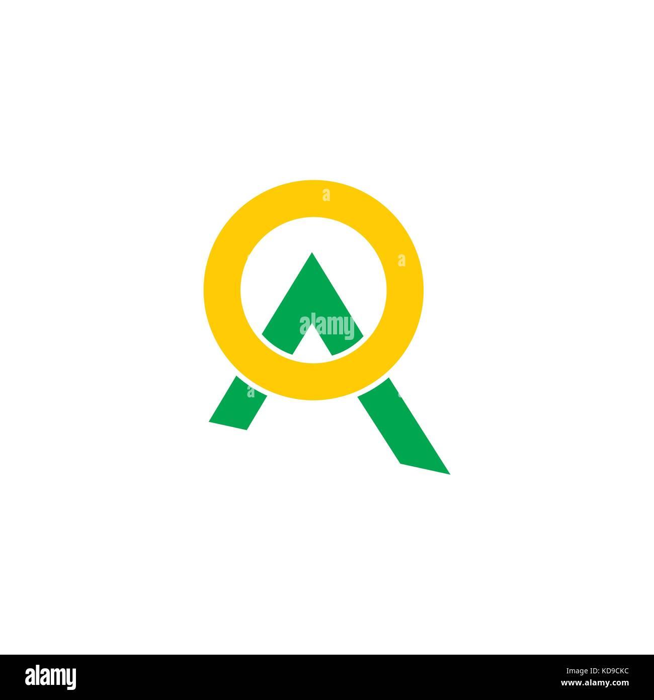 Letter A Mountain Moon Symbol Logo Vector Stock Vector Art